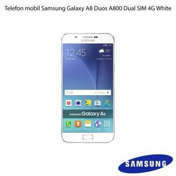 poza Telefon mobil Samsung Galaxy A8 Duos A800 Dual SIM 4G White