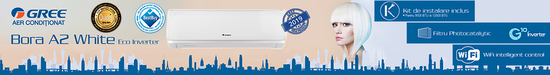 aer conditionat gree bora inverter a2 white