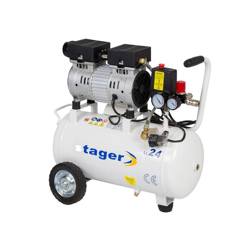 Poza Compresor de aer Stager HM24JW-0.55 0.75CP, 24L, 8BAR. Poza 14581