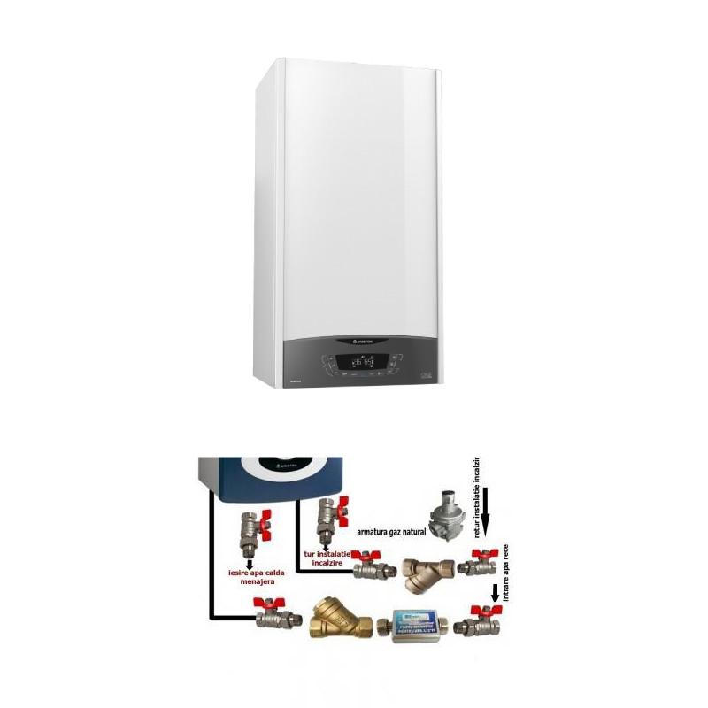 Centrala termica in condensare cu pachet instalare Ariston Clas One 24 EU 24 KW. Poza 16137