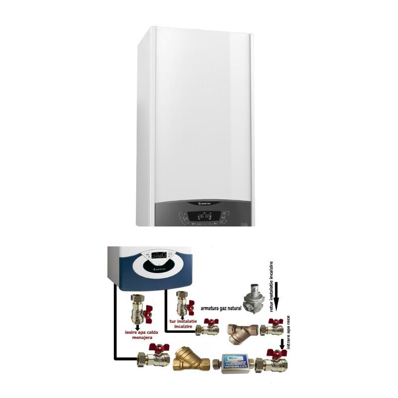 Poza Centrala termica in condensare cu pachet instalare Ariston Clas One 24 EU 24 KW. Poza 16366