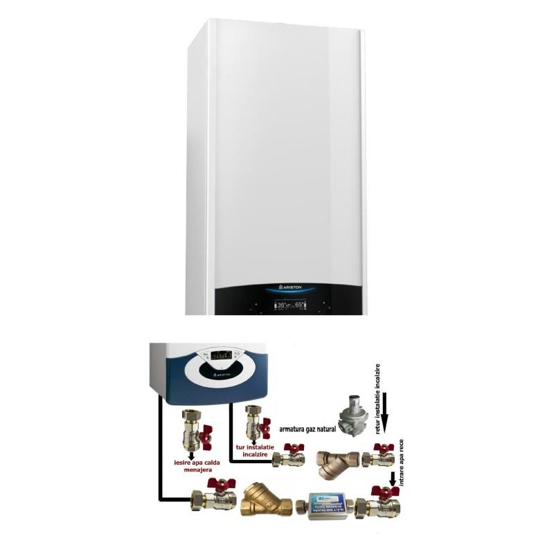 Poza Centrala termica in condensare cu pachet instalare Ariston Genus One 24 EU 24 kW. Poza 16368
