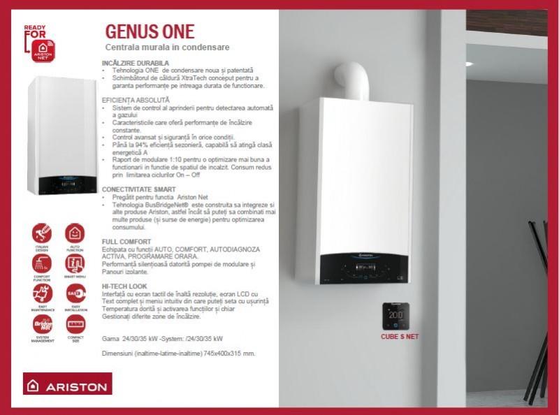 Centrala termica Ariston Genus One 24 EU 24 KW. Poza 14406