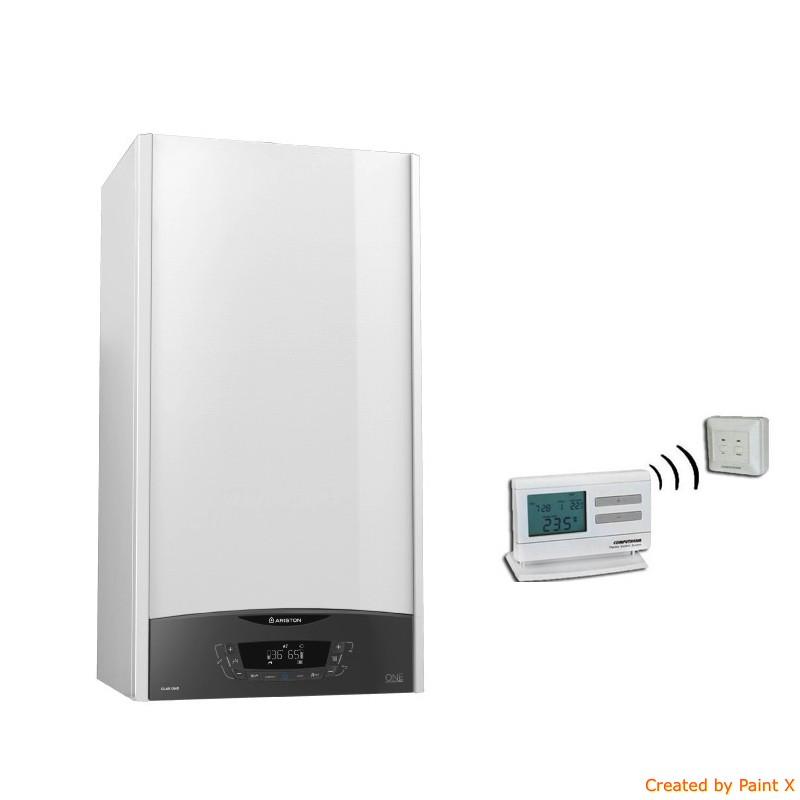 Poza Centrala Ariston Clas One 24 EU 24 KW cu cronotermostat Computherm Q3RF. Poza 17263