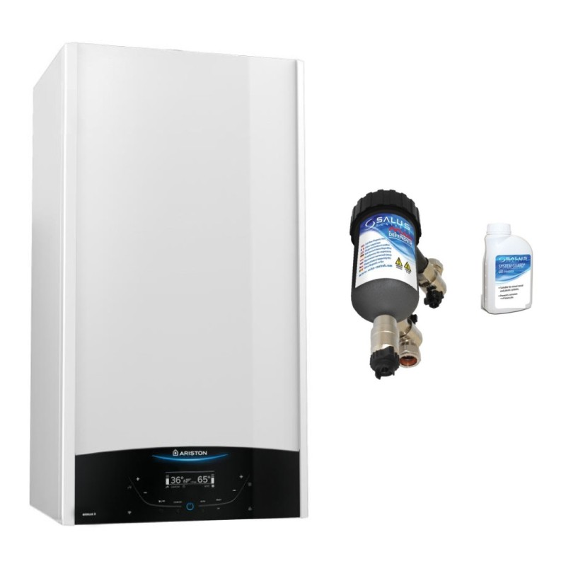 Poza Centrala termica Ariston Genus One 24 EU 24 kW cu filtru antimagnetita Salus MD22A. Poza 17379