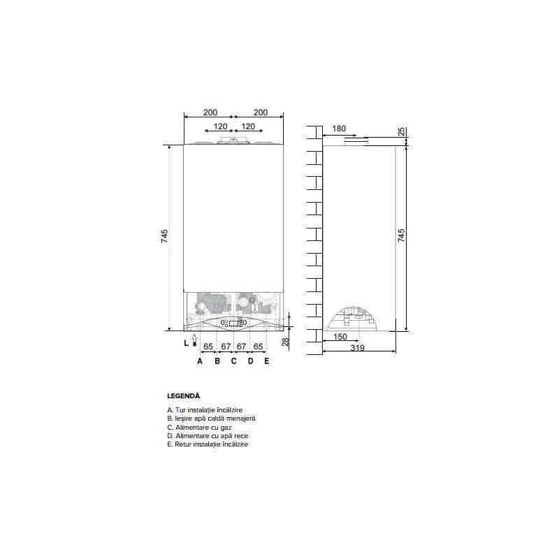 Poza Centrala termica Ariston  CARES PREMIUM 30 EU 30 KW. Poza 19058