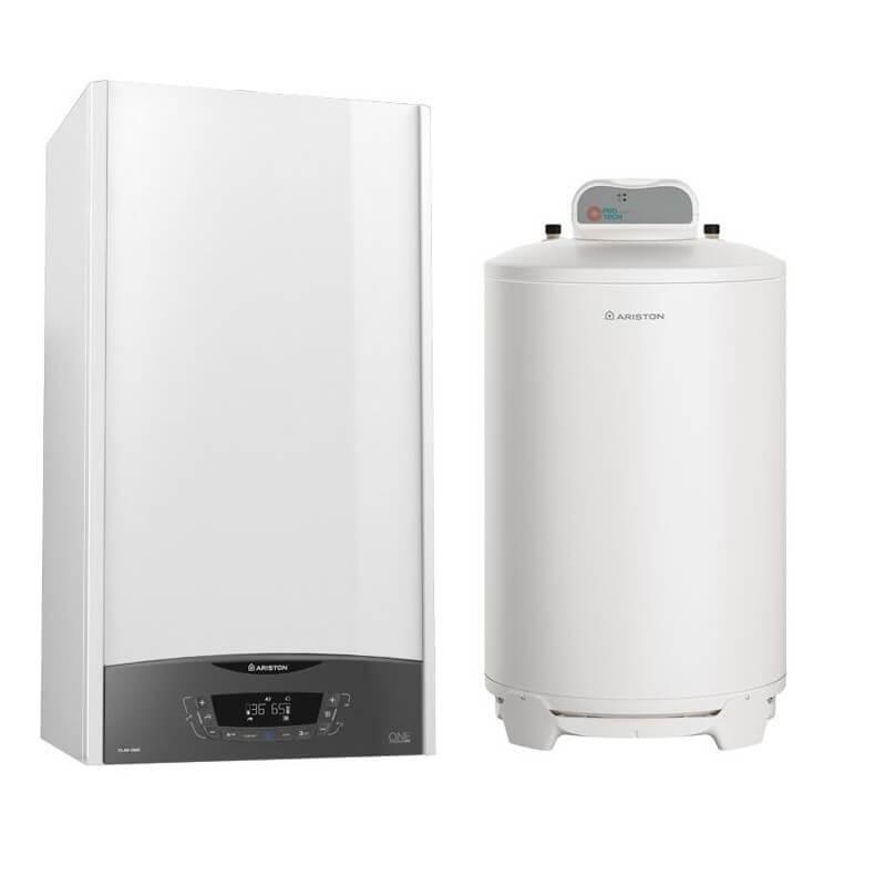 Poza Pachet centrala termica in condensatie Ariston Clas One System 24 EU cu boiler BCH 160 litri.. Poza 19196