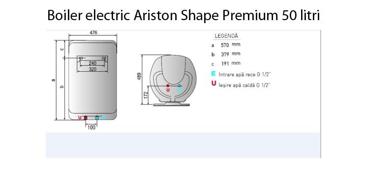 Boiler electric ariston shape premium 50 v 1 8 k eu 50 for Ariston shape premium 100