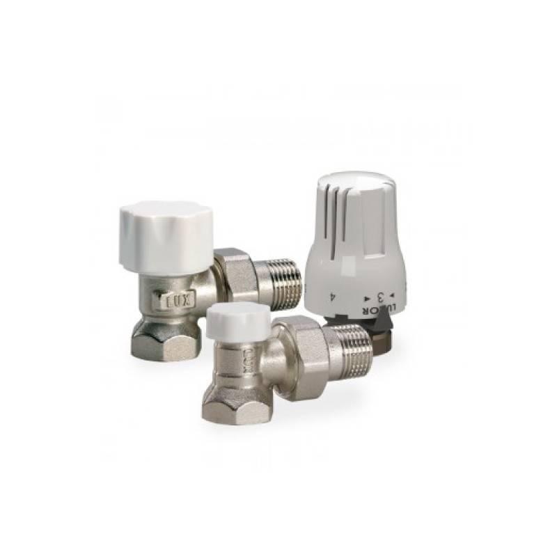 Poza Set robineti tur-retur cu cap termostatic si filet exterior Luxor KT 212 3/4 x EK