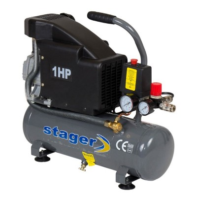 Poza Compresor de aer Stager HM1010K 6L 8BAR. Poza 14485