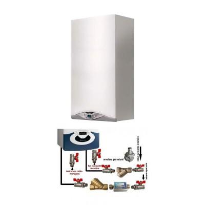 Poza Centrala termica in condensare cu pachet de instalare Ariston CARES PREMIUM 24 EU 24 KW. Poza 16107