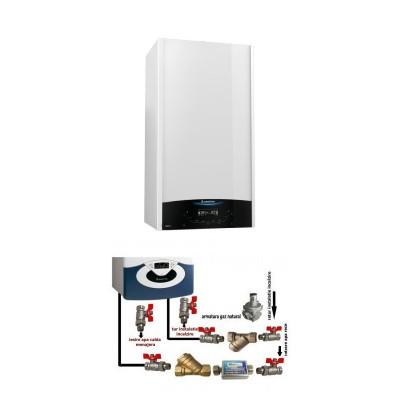 Poza Centrala termica in condensare cu pachet instalare Ariston Genus One 24 EU 24 kW. Poza 16177