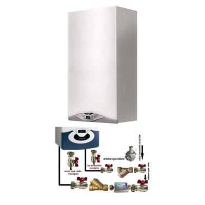Poza Centrala termica in condensare cu pachet de instalare Ariston CARES PREMIUM 24 EU 24 KW. Poza 16360