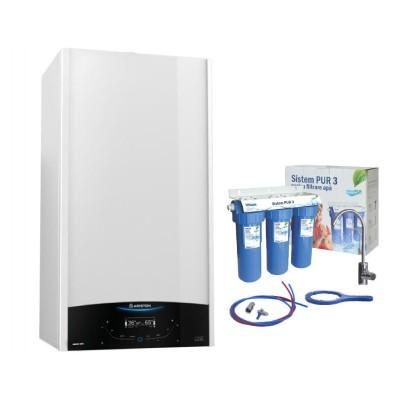 Poza Pachet centrala termica in condensare cu filtru de apa Ariston Genus One 24 EU 24 kW. Poza 16687