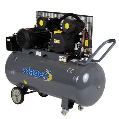 Poza Compresor de aer Stager HM-V-0.6/200 200L 8BAR. Poza 14471