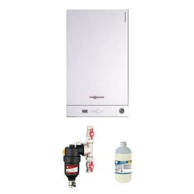 Poza Pachet centrala termica Viessmann Vitodens 050 W 24 kW cu filtru antimagnetita Chemstal Cleanex HF1 3/4. Poza 17121