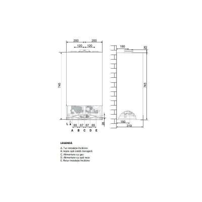 Poza Centrala termica Ariston  CARES PREMIUM 24 EU 24 KW. Poza 19052
