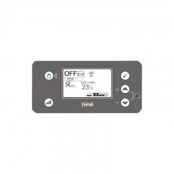 Poza Display panou comanda termosemineu pe peleti Ferroli Breta Pellet 24 kW